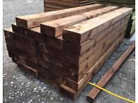🌞 •New• Tanalised Wooden/ Timber Railway Sleepers ~ Brown