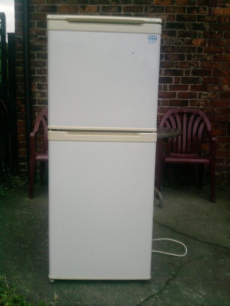 Used Fridgefreezerin Gorton, ManchesterGumtree - A Well Used Fridgefreezer For Sale Has Been Used In Mancave For Cooling Beers Has Scratches & Marks On The Sides Fully Working Order Gorton m!8
