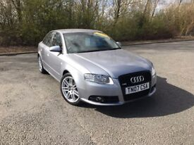 2007 AUDI A4 2.0 TFSI QUATTRO 4WD S LINE SPECIAL EDITION V2 GREY 80,000 MILES £6750 OLDMELDRUM
