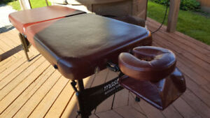 PORTABLE massage table,hot stones, relaxation music$300 ALL