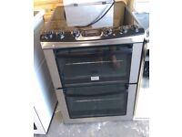 6 MONTHS WARRANTY Stainless Steel Zanussio double oven electric cooker FREE DELIVERY
