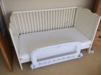 Used Cot Bed 140X75cm Cotbed incl. Mattress and sides