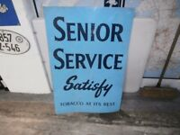 alluminium senior service sign