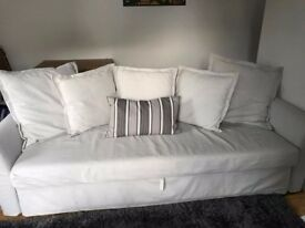 IKEA Three-Seat Sofa Bed - Nearly new Beige