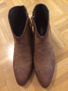 suede ankle boots brand new.