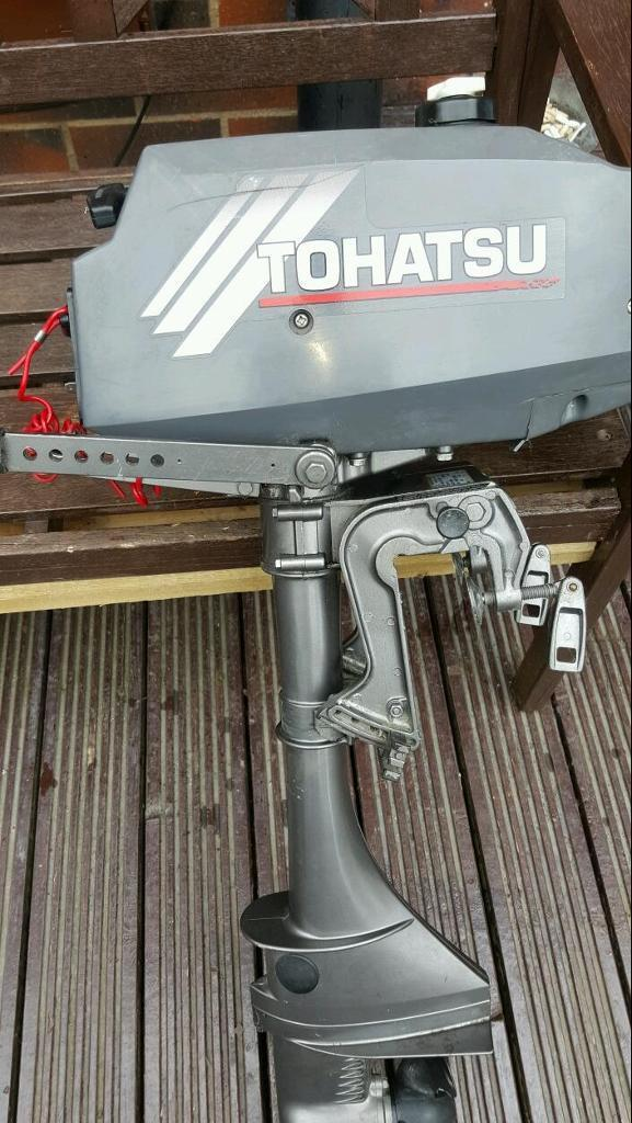 Tohatsu 3.5 outboard with fixing bracketin Tingley, West YorkshireGumtree - Tohatsu 3.5 outboard with stainless fixing bracket looks like brand new but obviously a few years old doesnt look like its ever run it came on my boat Ive had a few yrs which I took off and been stored. I bought a new plug cleaned the carb and added...