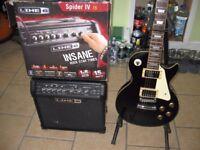 aria legend guitar and line 6 amp