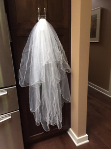 NEW 2 tiered Wedding veil