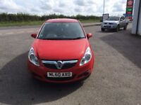 1.2 Litre Red Vauxhall Corsa for sale. 37,450 miles. Registered 2010. Passed MOT 12/08/2017.