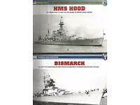 HMS HOOD AND BISMARCK MODELS