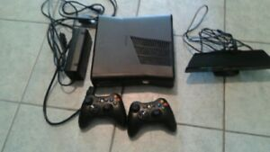 Xbox 360, kinect,  2 controllers, games
