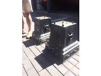 pair of cast iron plinths