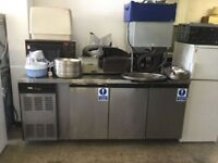 3 Door preparation table with fridge