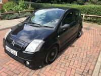 Citroen C2 VTS 1.6l, Catback Exhaust, Coilovers and Lenso Wheels.