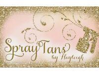 Spray tanning £12.50 +