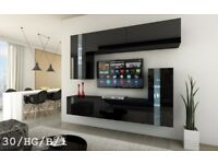 Modern Wall Unit Gloss Cabinets Furniture C 30 SYMETRIC Led Free Delivery Cash On Delivery!!