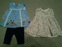 0-3 month girls dress and tunic