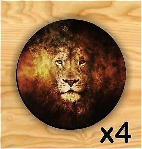*BRAND NEW* FLAMING LION SET OF 4 COASTERS