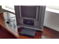 """Venturer 12"""" colour tv with built in DVD player and Bush freeview box"""