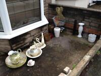 Free plant pots basted water jugs