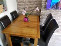 HARVEYS extend solid wood table&chair