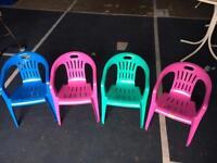 Plastic toddler seats