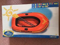 Kids Inflatable Boat. Oars and Pump Included. Never Used.