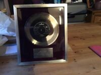 Collectors item Silver Record Disc ANGEL Rod Stewart