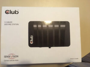 Club 3D Y-cabled docking station - model CSV-3203 ($90) - NEW