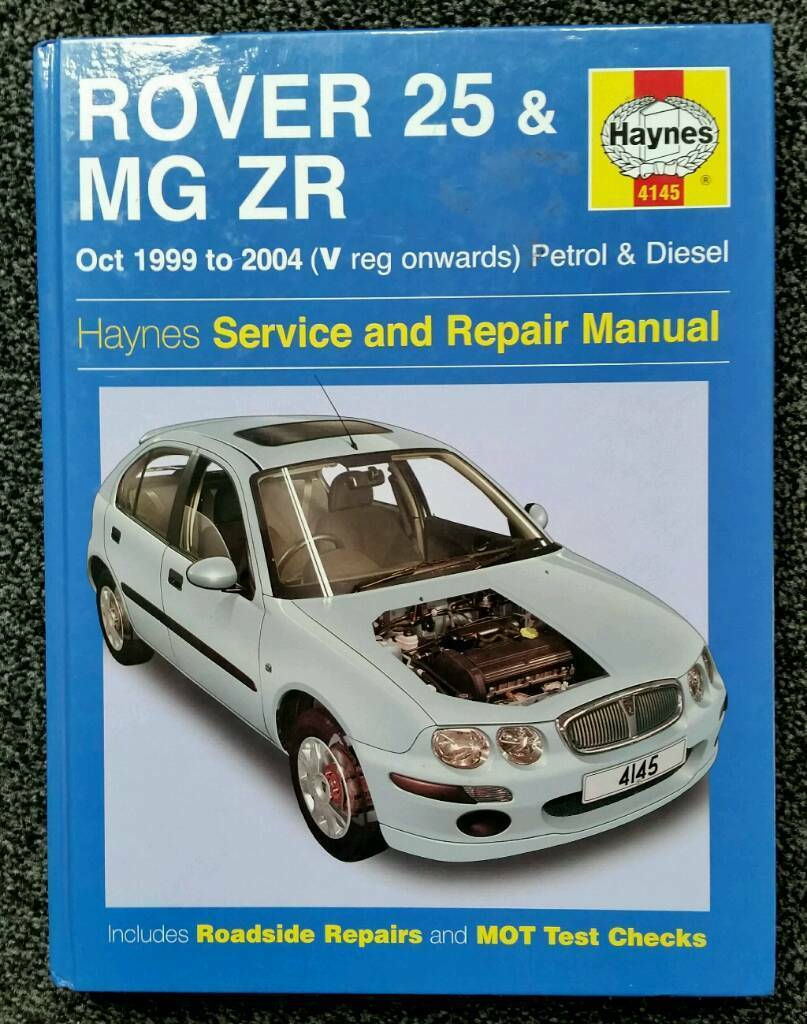 HAYNES SERVICE AND REPAIR MANUAL ROVER 25 & MG ZR