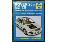 HAYNES SERVICE AND REPAIR MANUAL ROVER 25 & MG ZR