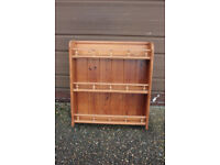 Solid pine wall hanging shelf unit