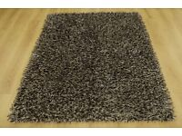 Crystal mix black, cream and silver rug