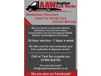 Vehicle Recovery & Transport - Suffolk, Cambridgeshire & Norfolk