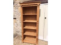 Beautiful Large Solid Stripped Pine Bookcase