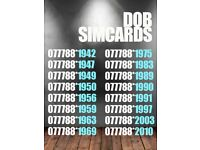 Date of Birth GOLD SIM cards CHOOSE YOURS: