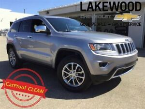 2016 Jeep Grand Cherokee Limited 4x4 (Sunroof, Remote Start)