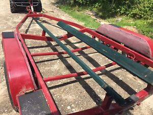 21 foot tandem axle EZ Loader bunk boat trailer