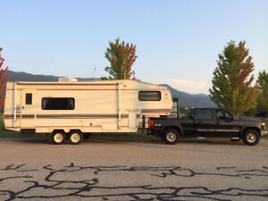 Golden Falcon 5th Wheel trailer with slide out; respected brand