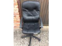 High back leather Swivel Office Chair.