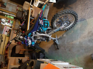 Yamaha YZ250F with trailer for sale