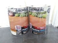 2 5lt tins of Ronseal Ultra Decking stain. Dark Oak