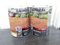 2 x 5lt tins of Ronseal Ultra Decking stain. Dark Oak