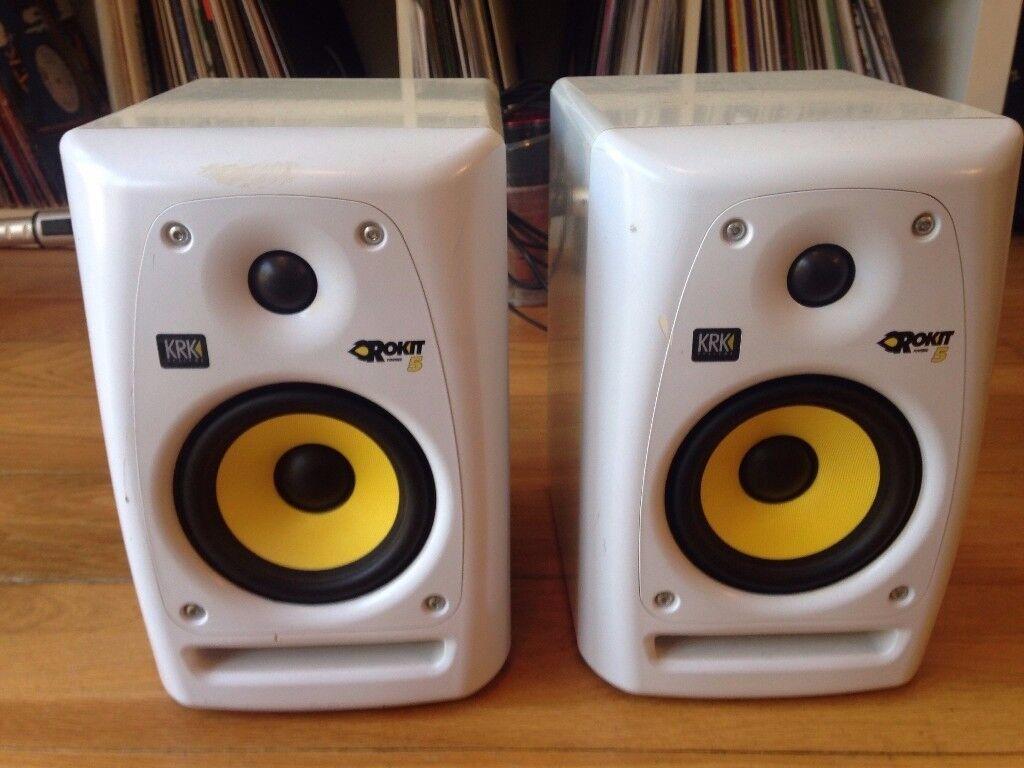 krk rokit 5 g3 se studio monitor speakers white in redbridge london gumtree. Black Bedroom Furniture Sets. Home Design Ideas