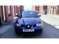 Seat Ibiza 1.2 petrol service history, genuine low mileage and 1year Mot