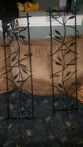 2 wrought iron wall mount candle holders