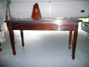 PIANO BENCH AND METRONOME GOOD CONDITION