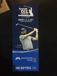 Syncrude oil country golf championship 2 tickets