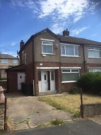 BD2 HOUSE TO LET SEMI DETACHED NEW KITCHEN 3 BEDROOM FRONT AND BACK GARDEN BRADFORD QUIET AREA