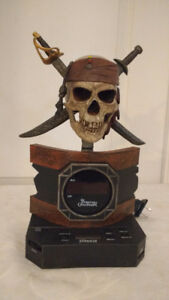 sams unique treasures, pirates caribbean clock radio